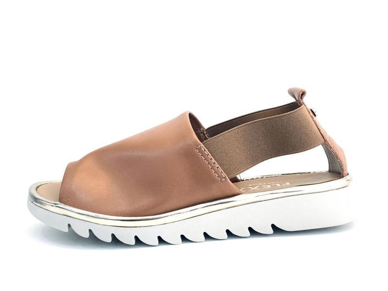 XB222.18COGNAC Scarpa donna The Flexx sandalo cuoio pelle plantare memory