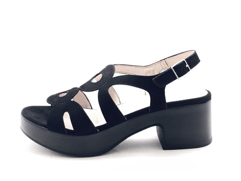 D8806P ANTE NERO Scarpa donna Wonders sandalo tacco plateau plantare gel