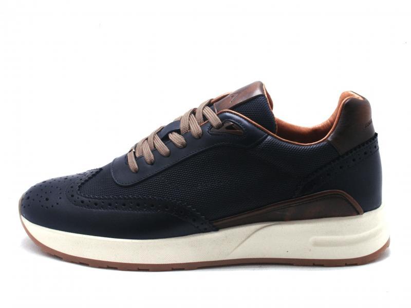 FAISCA 9809B NAVY Scarpa uomo Ambitious sneaker pelle  blu