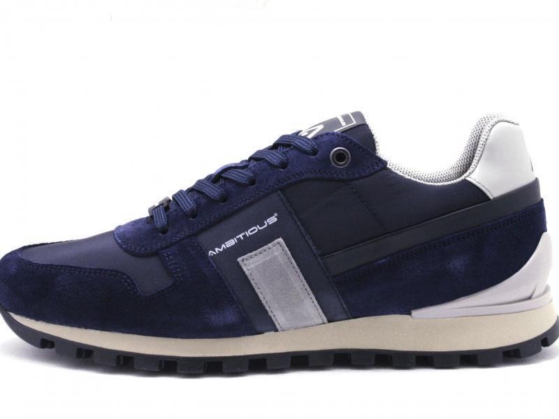 KEN10457 NAVY Scarpa uomo Ambitious sneaker running pelle blu