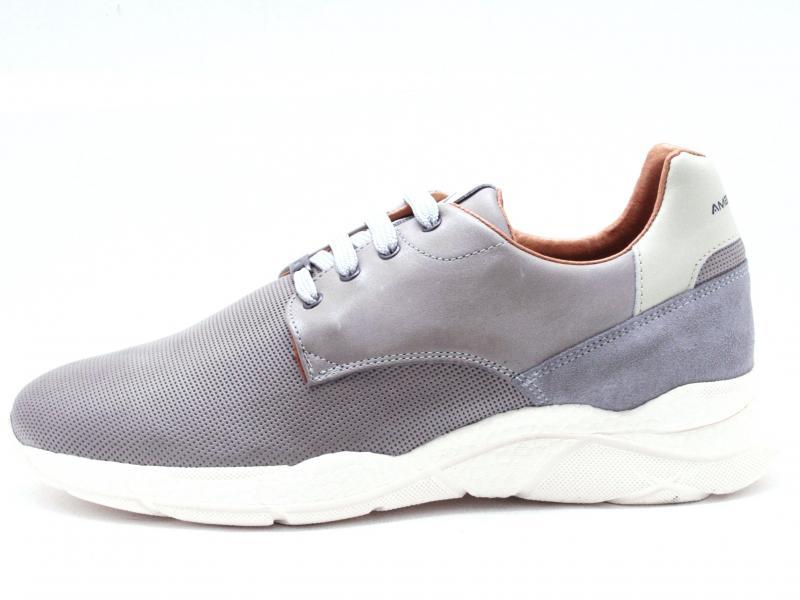 FRECCIA 7220 GREY Scarpa uomo Ambitious sneaker pelle grigio