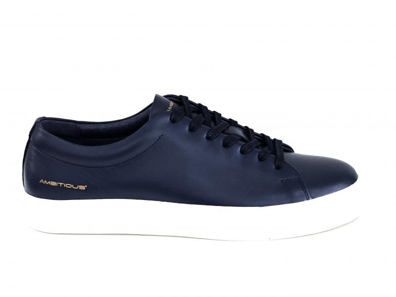 10184AM.5 PUBLICO Scarpa uomo Ambitious sneaker cassetta pelle blu