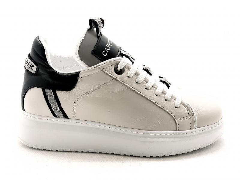 DE121 PANNA Scarpa donna sneaker Cafènoir ginnica pelle allacciata