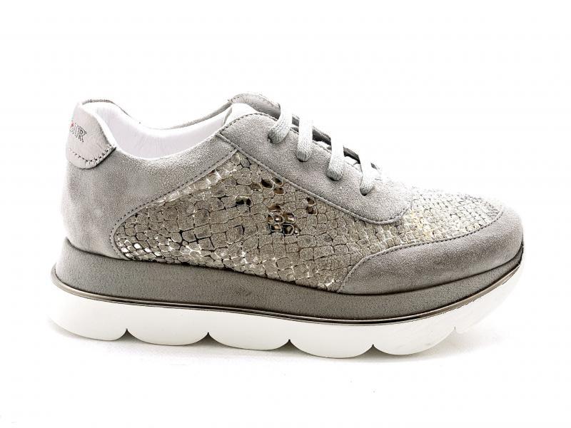 DB596 TAUPE Scarpa donna Cafènior sneaker stampa pitone