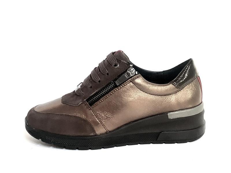 IV15966SP-SG001 ITACA220 Scarpa donna Cinzia Soft sneaker zeppa marrone