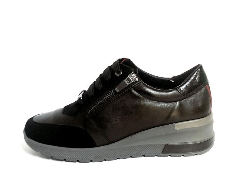 IV15966SP-SM001 BLACK Scarpa donna Cinzia soft sneaker pelle nero