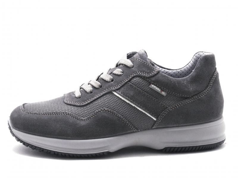 5234411 ASFALTO Scarpa uomo Enval Soft sneaker pelle made in Italy