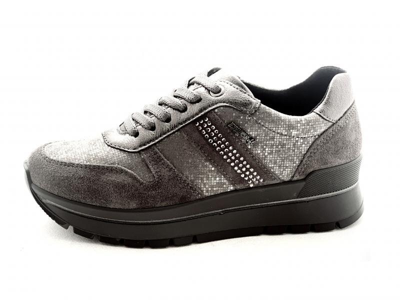 6282311 GRIGIO SCURO Scarpa donna Enval Soft  sneaker pelle made in Italy