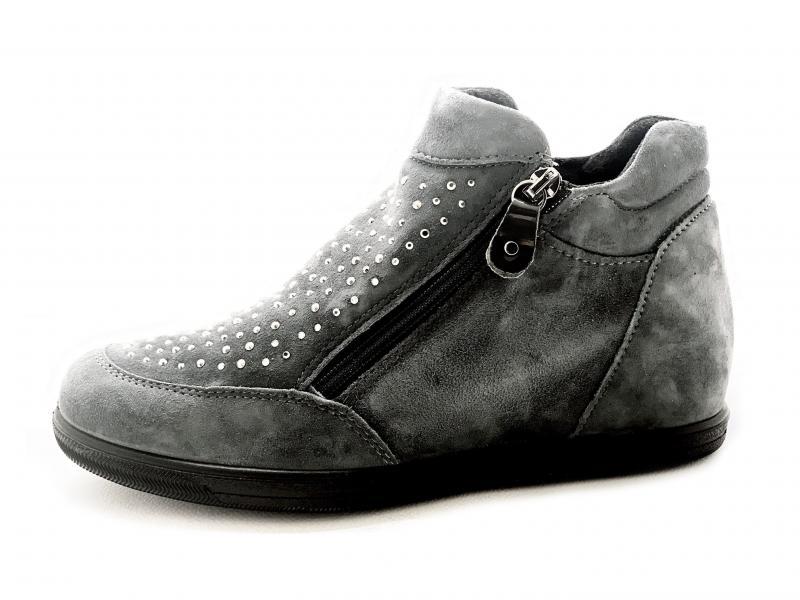 6285911 PETROLIO Scarpa donna Enval Soft sneaker rialzata zeppa interna made in Italy pelle