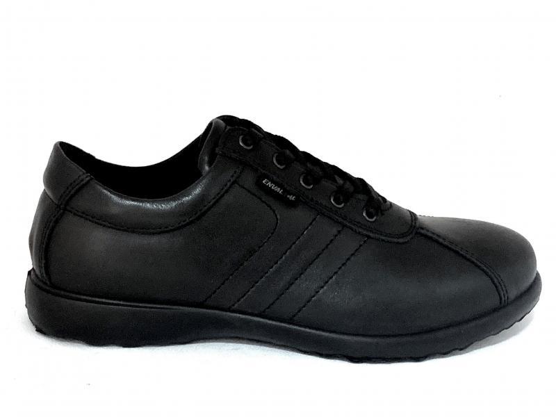 6219800 NERO Scarpa uomo Enval Soft sneaker allacciata pelle made in Italy plantare memory foam