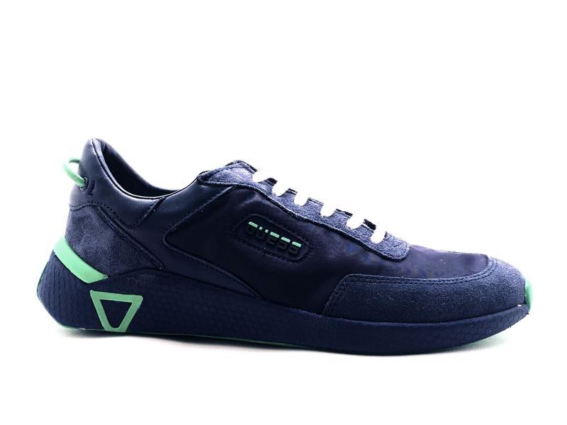 FM5MNA BLUE Scarpa uomo Guess sneaker running tessuto pelle