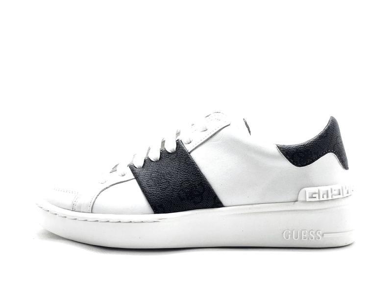 FM5VES WHITE Scarpa uomo Guess sneaker bianco  fascia e baffo logati