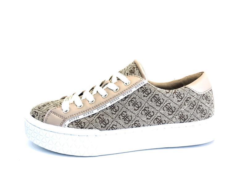FL5P12 BEIGE Scarpa donna Guess sneaker tessuto logato