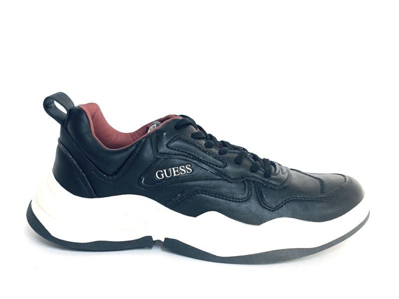 FMBAS8 BLACK Scarpa uomo Guess sneaker running nero