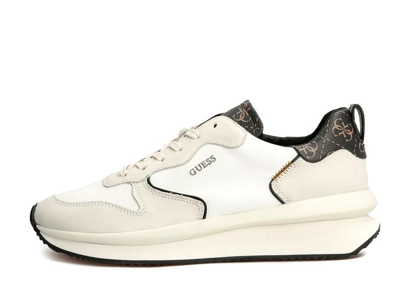 FM7MAD BROCR Scarpa uomo Guess sneaker runner vera pelle bianco