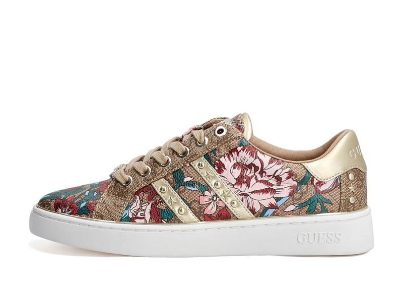 FL7BVL FLOW Scarpa donna Guess sneaker bevlee borchie fantasia floreale