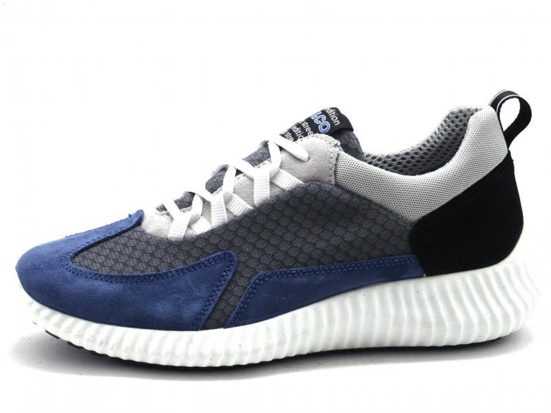 5123611 BLUETTE Scarpa uomo Igi&Co sneaker pelle tessuto made in Italy