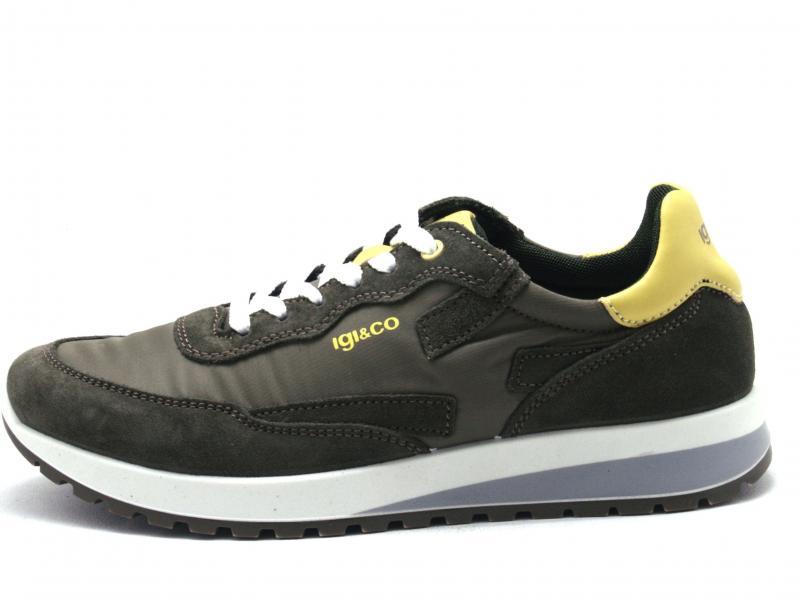 5127433 MILITARE Scarpa uomo Igi&Co sneaker running pelle tessuto made in Italy