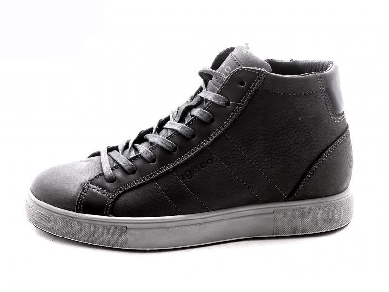 6131933 GRIGIO SCURO Scarpa uomo Igi&Co sneaker alta pelle made in Italy