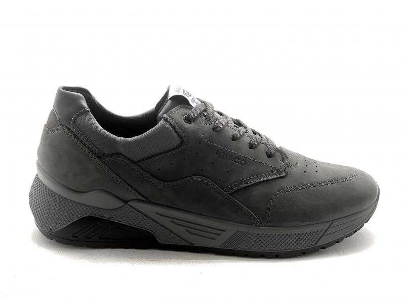 6142711 GRIGIO Scarpa uomo Igi&Co sneaker pelle made in Italy plantare memory
