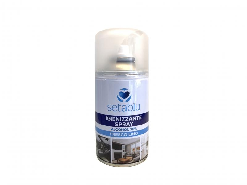 Igienizzante Setablu spray 250 ml. alcol 70  fresco lino