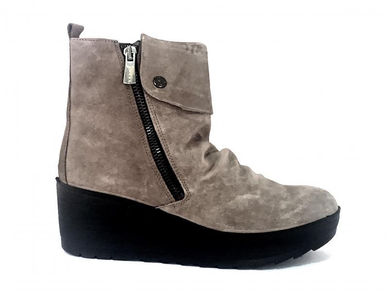 6157222 FANGO scarpa donna Igi&Co tronchetto zeppa pelle made in Italy