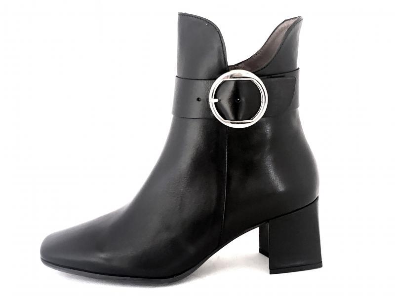 H-4206 NEGRO Scarpa donna tacco Wonders tronchetto pelle nero