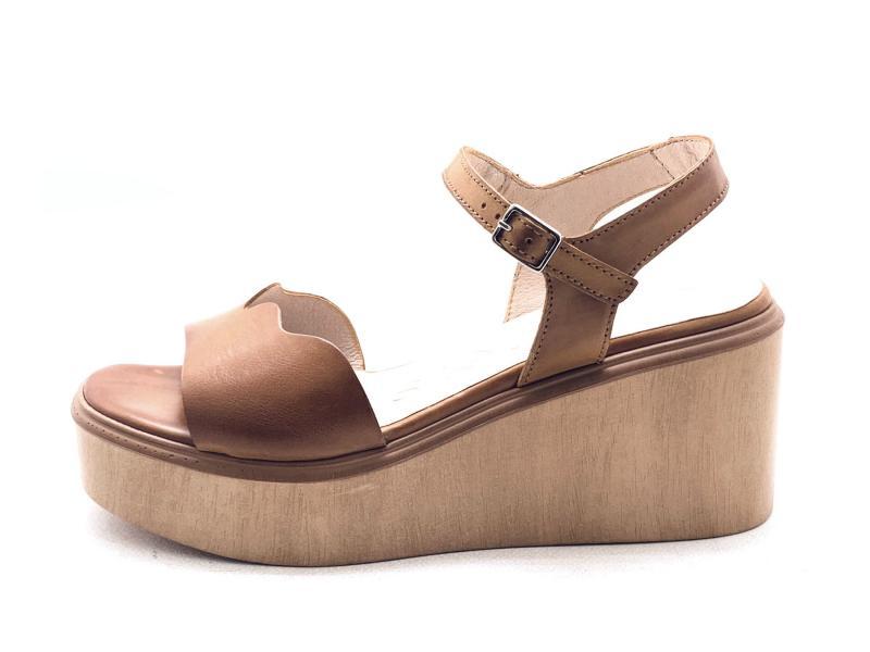 D9401 CONAC Scarpa donna Wonders sandalo cuoio zeppa plantare gel
